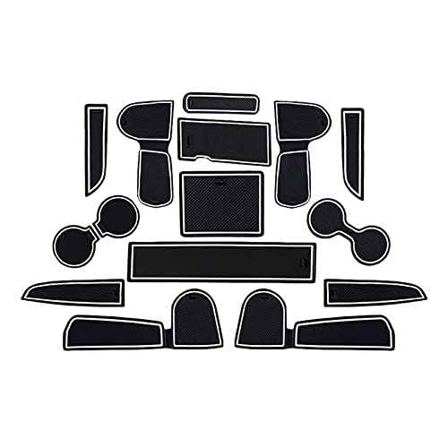 CaoyiL - Alfombrilla para puerta de coche para KIA Ceed 2018-2020/XCeed 2020, 15 piezas de coche puerta ranura antideslizante accesorios (blanco)