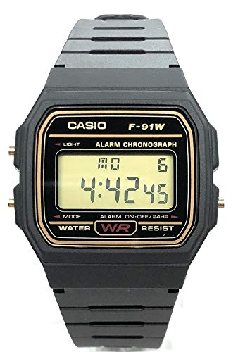 Casio F-91WG-9QEF Digitale herenhorloge met harsarmband