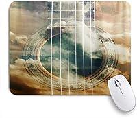 VAMIX マウスパッド 個性的 おしゃれ 柔軟 かわいい ゴム製裏面 ゲーミングマウスパッド PC ノートパソコン オフィス用 デスクマット 滑り止め 耐久性が良い おもしろいパターン (音楽ギター)