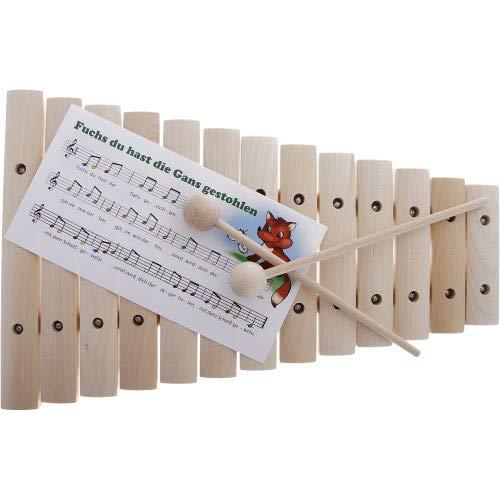 Goldon 11200 Xylophon mit 13 Klangplatten