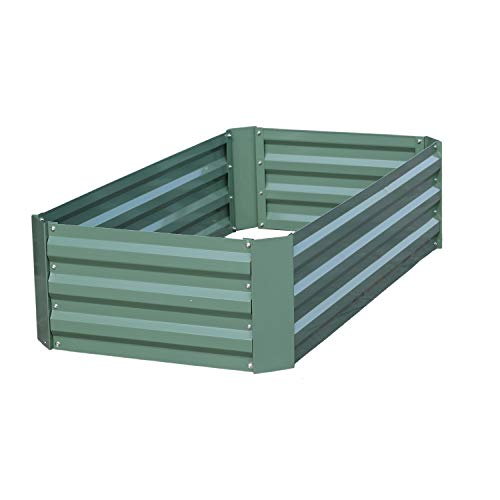 Aoodor Raised Garden Bed Vegetable Plants Furits Planter Box 120 x 60 x 30 cm