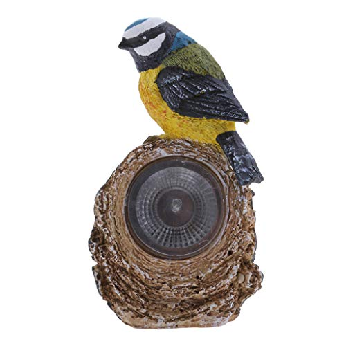 D DOLITY Solarleuchte Igle/Vogel für Garten Gartenleuchte Gartenlampe Gartendeko, auch als Geschenk für Kinder oder Garten Liebhaber - Vogel