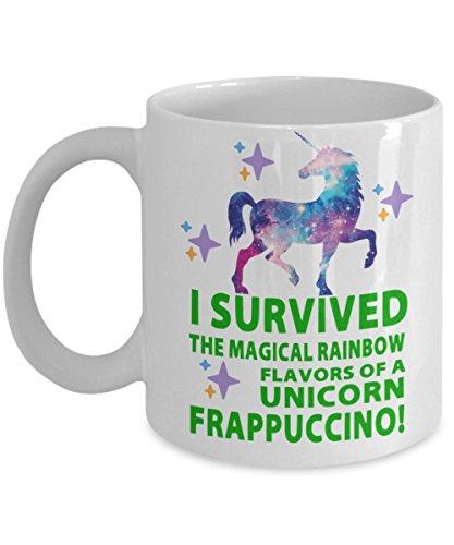 I Survived The Magical Rainbow Flavors Of A Unicorn Frappuccino 11 oz Coffee Mug White
