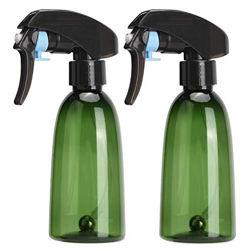 Noverlife 200ml / 7 oz Vert Fine Brume de pulvérisation d'eau Bouteille, 360 ° Tout Angle Trigger Spray aux Billes en Acier, Bouteille en Plastique d'eau Atomiseur Flairosol Spritz pour Solution