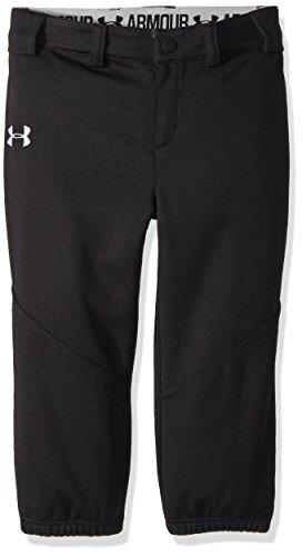 Under Armour Girls' Little Softball Pant, Black, 6X