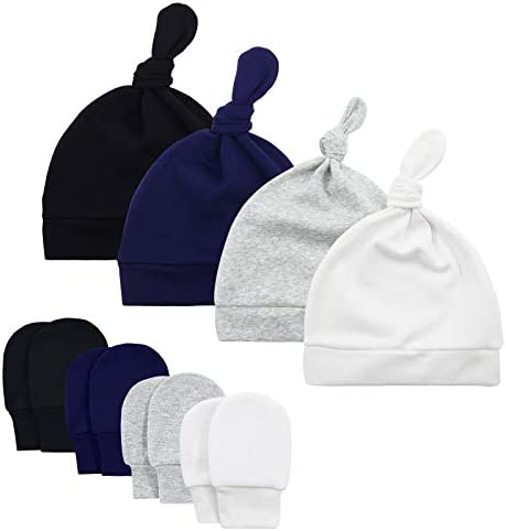 American Trends Baby Hat Mittens Newborn Hats for Boys Baby Hats 0 6 Months Winter Beanie Caps product image
