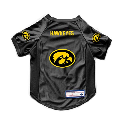 Littlearth NCAA Iowa Hawkeyes Pet JerseyJersey Stretch, Team Color, Large