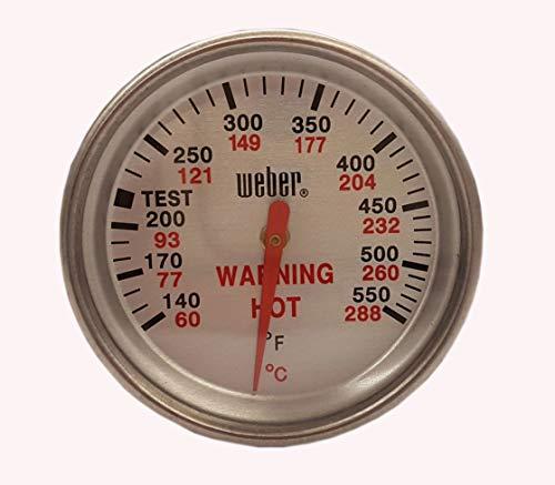 Weber Ersatzteil Thermometer/Doppelzweckthermometer Griller bis 2009 und für Silver Modelle vor 2005 Nr. 9815
