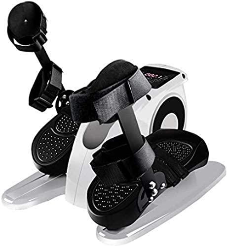 Bicicleta estática Equipo de Gimnasio en casa Máquina elíptica eléctrica con Soporte para protección de piernas Debajo del Escritorio Pedal de Bicicleta Ejercitador silencioso y Compacto