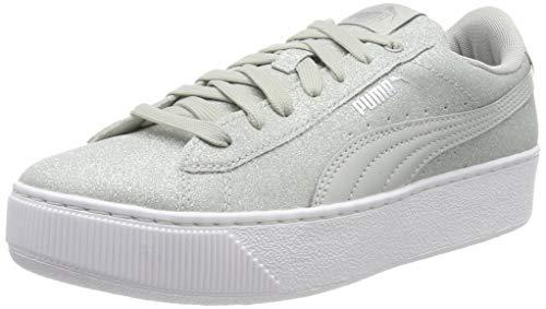 Puma Puma Vikky Platform Glitz Jr Sneaker Mädchen, Grau (Gray Violet-Gray Violet 09), 39 EU