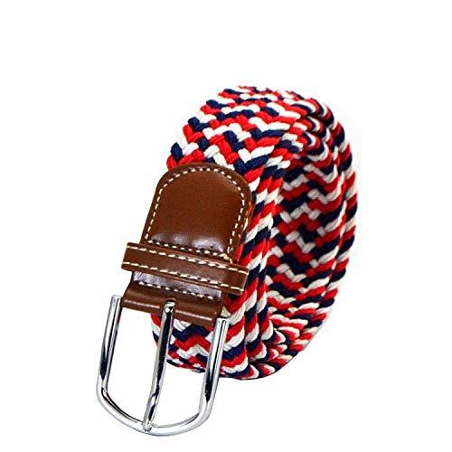 JIANGXIU Cinturones elásticos de lona con hebillas trenzadas, color 5 unidades (color: E)