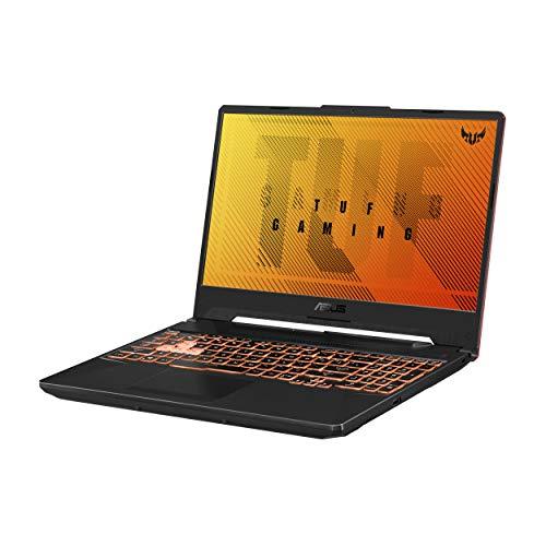 "ASUS TUF Gaming A15 Gaming Laptop, 15.6"" 144Hz Full HD IPS-Type Display, AMD Ryzen 5 4600H, GeForce GTX 1650 Ti, 8GB DDR4, 512GB PCIe SSD, RGB Keyboard, Windows 10 Home, Bonfire Black, FA506II-AS53"