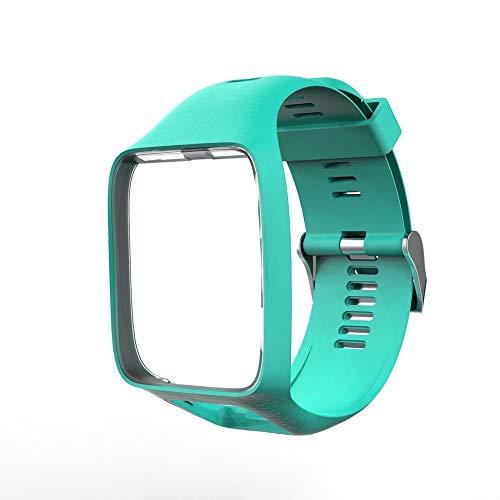 QiKun-Home Correa de Reloj para Tom Tom 2 Serie 3 Correa de Reloj Correa de muñeca de Repuesto de Silicona Correa para Tomtom Runner 2 3 Reloj GPS Verde limón