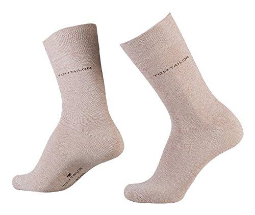 TOM TAILOR Herren Socken Uni Basic / 9002 (39-42, beige)