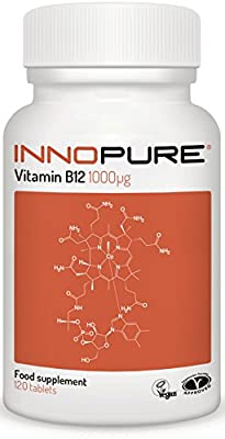Vitamin B12 Methylcobalamin 1,000mcg (ug)   Vegan, Vegetarian Society Approved   1 a Day Easy to Swallow Tablets   4 Month Supply, 120 Tablets from Innopure