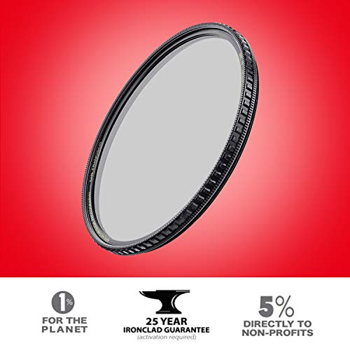 X4 CPL 67mm Circular Polarizer Filter - Schott B270 - MRC16 - Nano Coating - Weather Sealed - 25 Year Support by Breakthrough Photography