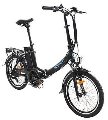smartEC Camp-20D Falt Pedelec/E-Bike Klapprad E-Faltrad 20 Zoll mit Samsung Li-Ion Akku 36V/13AH und tiefem Einstieg, max. Belastbarkeit bis zu 125 kg (Schwarz)
