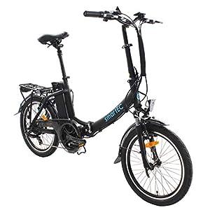 smartEC Camp-20D Falt Pedelec/E-Bike Klapprad E-Faltrad 20 Zoll mit Samsung Li-Ion Akku 36V/13AH und tiefem Einstieg, max. Belastbarkeit bis zu 125 kg