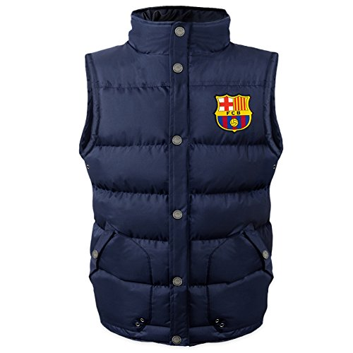 FC Barcelona - Jungen Steppweste - Offizielles Merchandise - Geschenk für Fußballfans - 10-11 Jahre