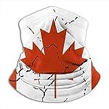Miedhki Kanada Rissflagge Nackenwärmer Gamasche Sturmhaube Skimaske Winter Hüte Kopfbedeckungen für Männer Frauen Schwarz