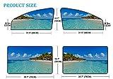 Sombrilla lateral para automóvil, 4 piezas Riviera Maya Paradise Beaches Cancún Quintana Cortina magnética universal con protección solar, máxima protección para su bebé, niños y mascotas aptos para