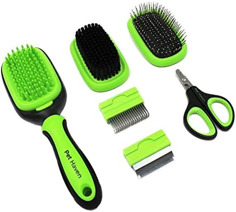 PetHaven Dog Brush Cat Brush 6 in 1 Pet Grooming Kit Shedding De matting Slicker Comb For Undercoat product image