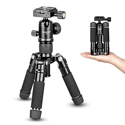 Koolehaoda portatile pieghevole mini treppiede compatto desktop macro mini treppiede con testa a sfera per fotocamere DSLR Canon Nikon (H-50)