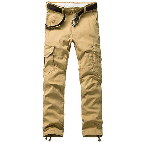 MOTOR CASUAL – Pantalones de combate para hombre, con bolsillos militares tácticos, ajustados,  Caqui…