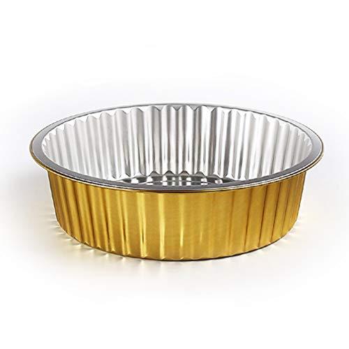 ZYYQ Fiambrera Desechable,10 PCS,Cacerola de la Parrilla del Papel de Aluminio,Caja de Embalaje para Llevar,Horno Microondas,Llama Abierta,Caja Grill,2500ml/g