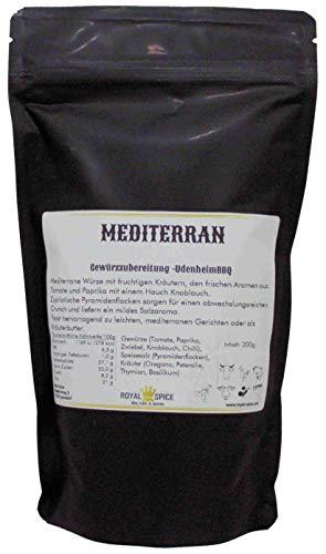 Royal Spice - Udenheim Mediterran Gewürzmischung 200g Beutel - Gewürz für Fleisch, Chicken, BBQ, oder Kräuterbutter, Dips und Dressing - Einzigartiger Geschmack
