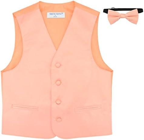 BOY S Dress Vest BOW TIE Solid PEACH Color Bow Tie Set size 6 product image