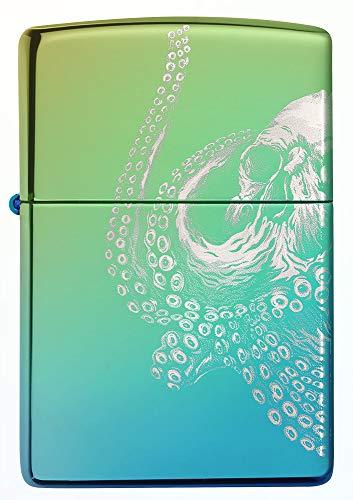 Zippo Octopus, High Polish Green – Benzin Sturm-Feuerzeug, nachfüllbar, in hochwer-tiger Geschenkbox, 60005273, bunt, normal