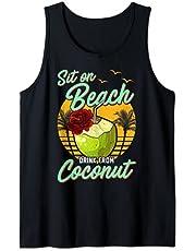 Agua de leche de coco Bebida de coco Camiseta sin Mangas