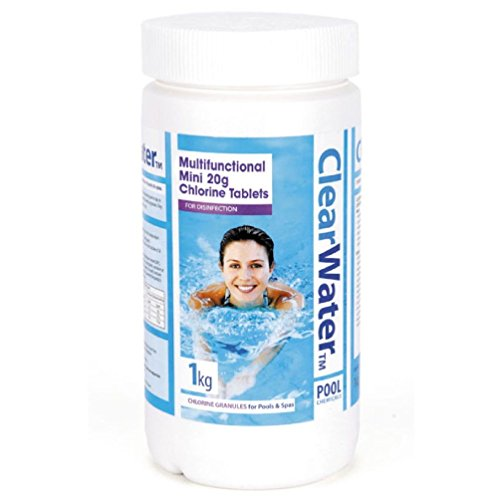 Clearwater Chlorine 1Kg Multifunctional 20G Mini Tablets Swimming Pools Hot Tubs