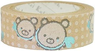 シール堂 [ ks-ct-10021 Sorabear snow ]  シンジカトウ 『 きらぴか 』  クラフト デコレーションテープ (15mm幅 x 5m) Shinzi Katoh Craft DECORATION tape