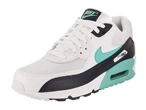 Nike Air Max 90 Essential, Chaussures de Fitness Homme, Multicolore (White Aurora Green/Obsidian 102), 44 EU