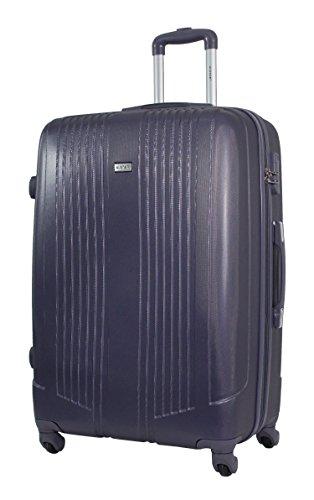 Maleta Grande Talla 75cm - ALISTAIR AIRO - ABS extremista Ligero - 4 Ruedas- Azul Marino (Gris Oscuro)