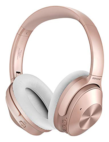 Mpow Noise Cancelling Kopfhörer (ANC), Bluetooth Kopfhörer Over Ear mit HiFi Stereo, 40mm-Dual-Drive-Laufwerkeingebauten, 30 Std Spielzeit, eingebauten Mikro CVC 6.0 für Schule/Flughafen/Flugzeug