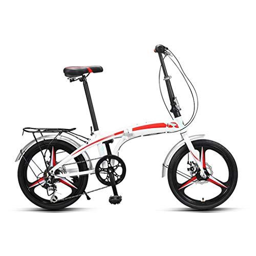 TXTC 7 Velocidad De Peso Ligero Bici Plegable, Ruedas De 20