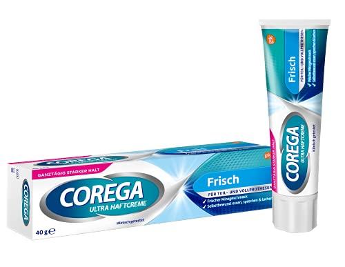 Corega Ultra Haftcreme Frisch für Zahnersatz/dritte Zähne, 1x40g