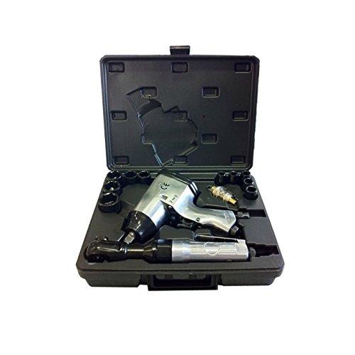 JBM 52156 Piezas neumáticas con Pistola y carraca Impacto en Estuche, Set de 16