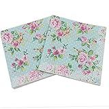 20 pc / 33 centimetri * 33 centimetri Caratteristica stampato Rosa della decorazione tovaglioli di carta per l'evento del partito & Tissue Decoupage Servilleta