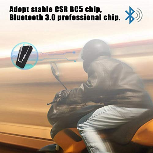 Great Price! Motorcycle Stereo Bluetooth Headset Motorbike Helmet Intercom Earpiece Bluetooth Helmet...