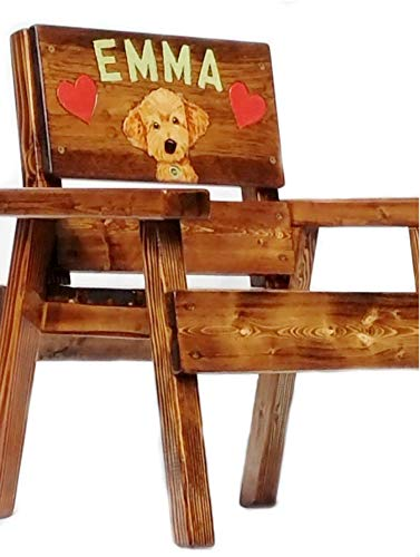 Goldendoodle Gift Kids Wood Chair, Engraved and Painted Personalized