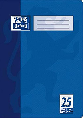 Oxford Heft/384401625 DIN A4 4-fach sortiert 25 - linert 9mm/Rand 90 g/qm