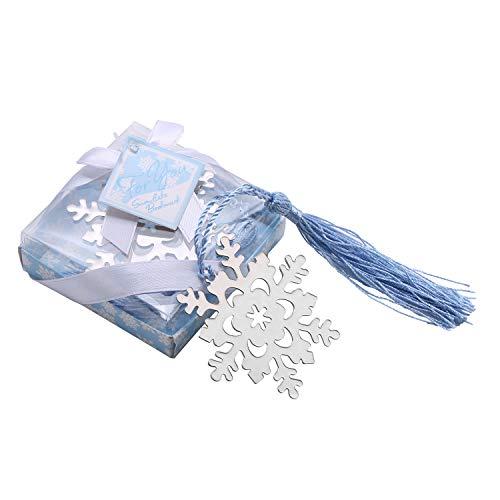しおり 金属 ブックマーク おしゃれ 雪の?晶 雪の花 しおり 子供 学生 小さな贈り物(シルバー)
