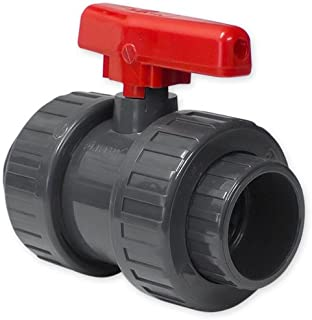 well2wellness® PVC-Kugelhahn als Uniblock mit 2 x Klebemuffe 40mm,50mm oder 63mm