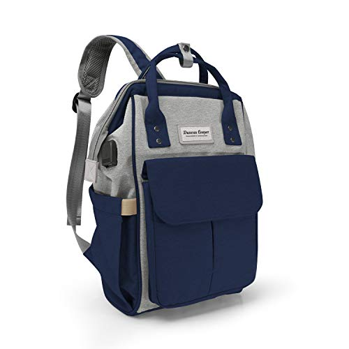 Duncan Cooper Baby Changing Bag | Changing Bag | Nappy Backpack with Changing Mat (Blue & Grey)