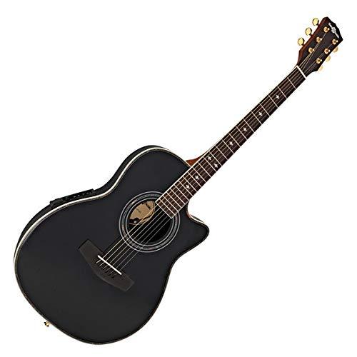 Guitarra Electroacústica Con Dorso Redondeado de Gear4music Negro