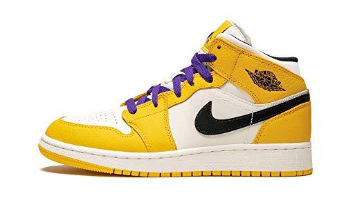 AIR JORDAN 1 Mid Se (Gs) 'Lakers' - Bq6931-700 - Size 7Y